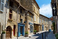 Lourmarin, labelled as the most beautiful villages of France, Louberon, in Apt district, Vaucluse department and Provence-Alpes-Côte d´Azur region. Fr...