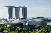 Marina Bay Sands and the Esplanade Theatres on the Bay, Singapore.