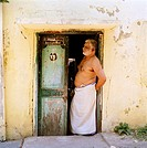 Man in Chennai Madras in Tamil Nadu in India in South Asia