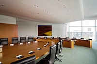 The Cabinet Room inside the Federal Chancellery, Home of the Chancellor and the Chancellery staff.