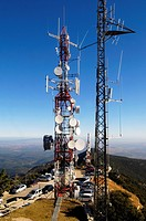 Communications tower, Mare de Deu Mont, Albanya, Girona, Spain