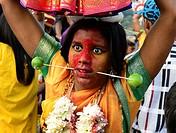 Bizarre scenes at the annual Hindu Thaipusam festival in KL, Malaysia
