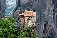 Meteora monastery in greece.