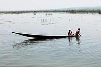 Boats on Inle Lake, Shan states, Burma