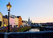 St Finbarr´s Cathedral and River Lee - South Channel, Cork City, County Cork, Ireland.