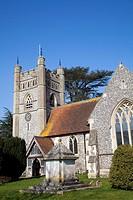 Hambleden Village Church - St Mary the Virgin - in Buckinghamshire in UK.