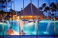 swimming pool, Barcelo Bavaro Beach Resort, Punta Cana, Dominican Republic.