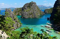 Calamian archipelago in Coron island, Philippines,South East Asia.