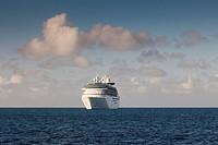 Cruise ship at sea, The Bahamas.