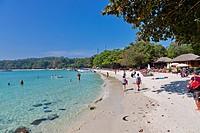 Scene on Ao Wong Duan Beach on Ko Samet Island, Thailand.