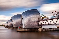 Thames Flood Barrier, London, England.
