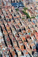 Aerial view of the Barceloneta, Barcelona, Spain