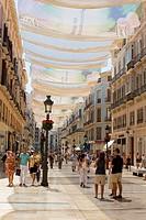 "One of Malaga´s main shopping precincts. """"Calle Marques de Larios"""" . Malaga Spain."