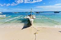 Alona beach at Panglao,Bohol island , Philippines,South East Asia.