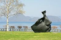 Sculpture garden at Tokayo Lake, Toyako, Abuta, Hokkaido, Japan