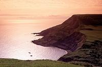 Purbeck coastline Dorset England.