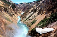 Grand canyon of the Yellowstone river in Yellowstone national park, Wyoming, USA.