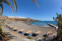 panoramic view of Callao Salvaje Beach in Adeje coast Santa Cruz de Tenerife