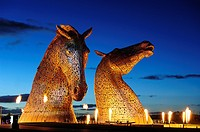 The Kelpies with the light, sound and fire performance by the renowned pyrotechnic company GROUP F, The Kelpies, are a colossal 300 tonne, 30 metre hi...