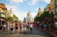 Cinderella's Castle Magic Kingdom, Disneyland theme park, Orlando, Florida, USA.