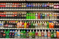 Soda and other beverages in a grocery store in New York