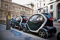 Italy, Milan, Car sharing.