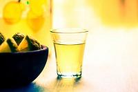 Limoncello Italian drink.