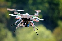 Drone flying with GoPro Cam.