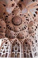 Ali Qapu palace ceiling, Naghsh-i Jahan Square, Isfahan, Iran
