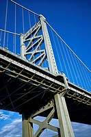 Supporting structure of the Benjamin Franklin Bridge.