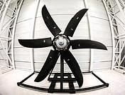 A large aircraft propeller.