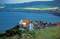 Robin Hood´s Bay, a small fishing village on the coast of North Yorkshire, England, UK