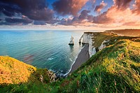 Sunrise over Etretat.