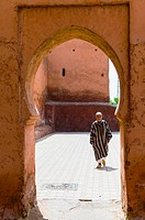 Gate of the City Ramparts, Marrakech (Marrakesh), Morocco, North Africa, Africa.