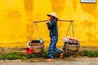Mobile Street Vendor, Hoi An, Quang Nam Province, Vietnam.