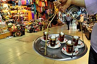 Tea seller. Grand Bazaar. Istanbul. Turkey.
