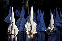 Good Friday procession. San Lorenzo de El Escorial, Madrid. Spain.