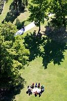 France, Ile-de-France, Paris (75), Parc Andre Citroen, aerials from Ballon de Paris
