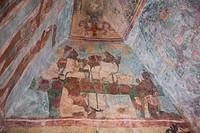 Building 1, Room 3, Murals, Bonampak Mayan Archaeological site, Chiapas, Mexico