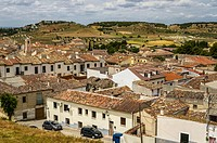 Aereal view of Chinchon village, Madrid province, Spain.