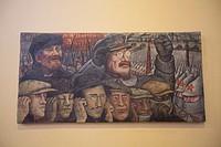 """Mural by Diego Rivera, """"Revolucion rusa o Tercera Internacional"""" (1933), Palacio de Bellas Artes, Mexico City, Mexico"""
