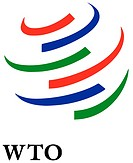 Logo of the World Trade Organization WTO based in Geneva - Caution: For the editorial use only. Not for advertising or other commercial use!.