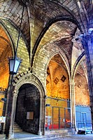 Cloister of the Catedral Barcelona. Catalonia