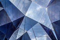 Barcelona, Catalonia, Spain.Detail Forum building or Museu Blau.