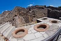 Ruins of Pompei, Ancient Roman Ruins, UNESCO Worl Heritage Site, Pompei, Naples, Campania, Italy, Europe.