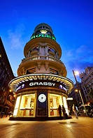 Edificio Grassy, located in Gran Via avenue. Madrid. Spain.