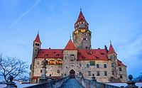 Medieval castle Bouzov, Czech Republic, Europe.