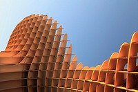 Spain, Andalusia, Seville, Metropol Parasol, wooden structure, JŸrgen Mayer-Hermann architect,.