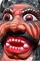 Panjim, Goa, India: papier-maché monster to be burnt during the night of the Diwali Festival