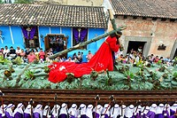 Holy Week procession in Antigua, Guatemala, Central America.